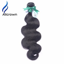 Alicrown Body Wave 1 Piece Remy Hair Bundles 100% Brazilian Human Hair Natural Color Hair Weave Double Weft 8-24 inch