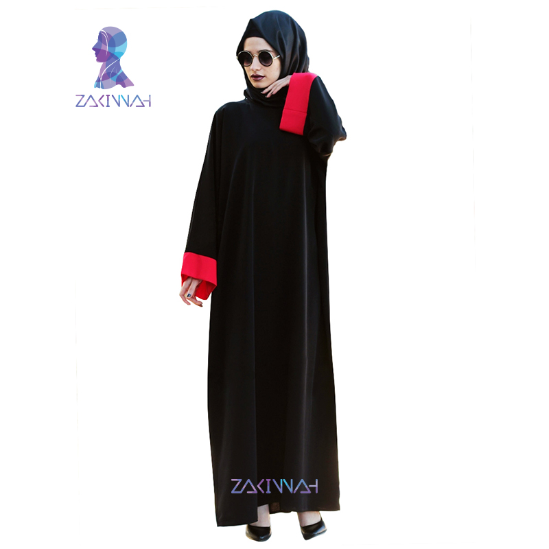 Zakiyyah Žene Abayas Šifon crni dugi rukav muslimanski caftan - Nacionalna odjeća - Foto 3