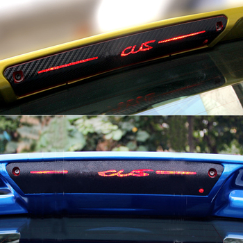 Additional Brake Light Sticker Decorative 3D Carbon Fiber High Mount Stop Lamp Cover for Ford Focus 2 3 2012-2015 Car Styling image