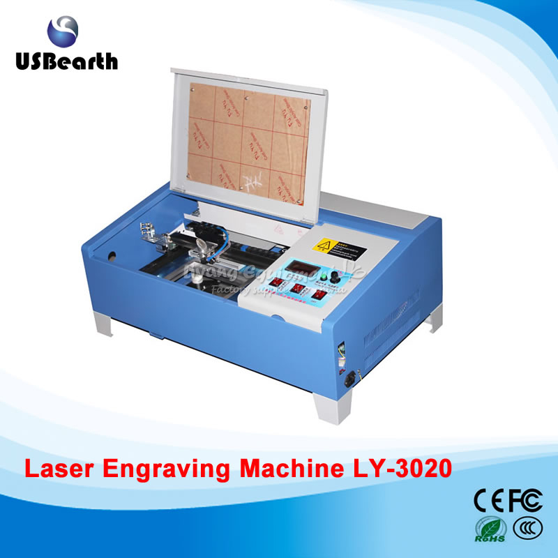 3020 40W CO2 laser cutting machine with digital function and honeycomb laser engraver ship to EU no tax stamp laser machine 3020 with lift system up and down function 40w heigh configration
