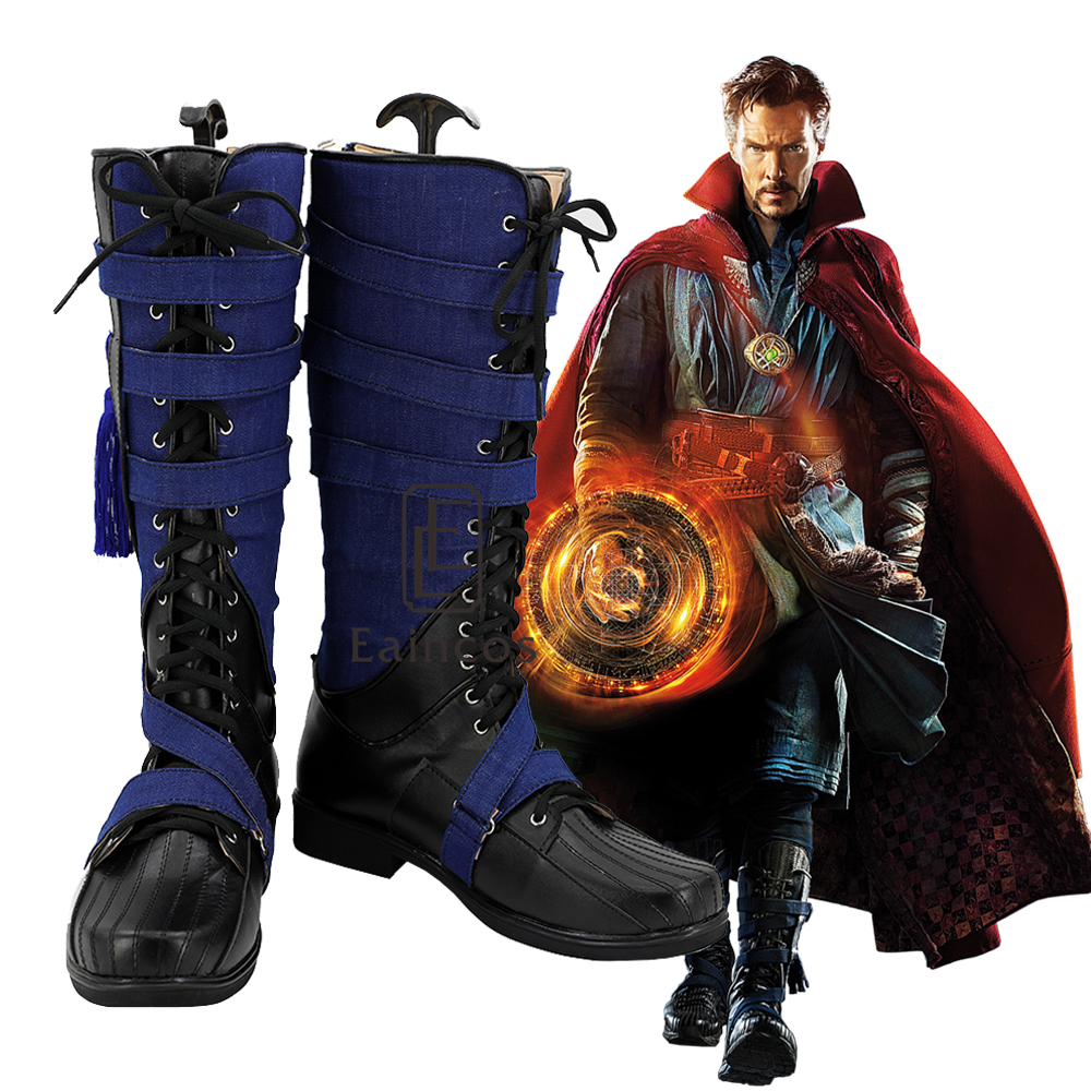Hot Movie Doctor Strange Steve Cosplay Halloween Party Shoes Superhero Boots Customized Size