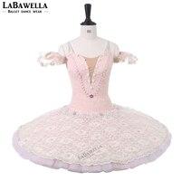 Women Sugar Plum Fairy Performance Pancake Tutu Adult Professional Ballet Tutus Peach Platter Competition Balet Costumes BT9216