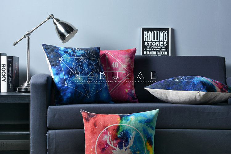 Nordic Colorful Pattern Animal Deer Starry Sky Cushions Geometric Pillows  Decorative Sofa Linen Cotton Pillow Cushion In Cushion From Home U0026 Garden  On ...