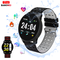 BANGWEI 2019 New Smart health watch Blood Pressure Heart Rate Sport Mode Smart Watch Men Women fitness watch waterproof clock