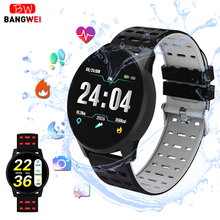 BANGWEI 2019 New Smart health watch Blood Pressure Heart Rate Sport Mode Watch Men Women fitness waterproof clock