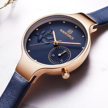 Top Brand NAVIFORCE 5001 Luxury Women Watches Fashion Ladies Rhinestone Quartz Watch Waterproof Watch Simple Clock relogio feminino with box