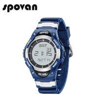SPOVAN Men's Digital Sport Watch 100M Waterproof Outdoor Electronic Alarm Stopwatch Water Resistant for Kids Boy SW01Blue