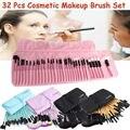 Professional Muticolor 32 pcs Makeup Brushes Set Gift Cosmetics Eyebrow Shadow Health Make Up Brush Kits Maquigem + Pouch Bag