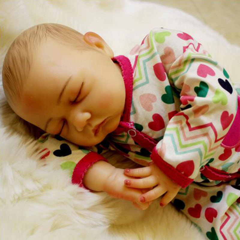 50cm Soft Lifelike Real Human Skin Solid Silicone Reborn Baby Doll Toy 20inch Realistic Alive Reborn