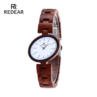 Full Wooden Watches luxury Japan Movement Quartz Watch with White Bell Womens Wristwatch Birthday Holiday Anniversary Gifts