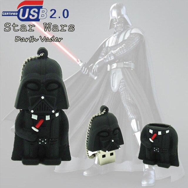 real capacity usb flash drive Star Wars Darth Vader pen drive pendrive 8GB 16GB 32GB  black man stick disk USB2.0