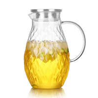 2L Super Large Iced Water my Bottle Heat resistant Glass Juice tea set infuser Health Life House Decoration Jug beer and Giftset