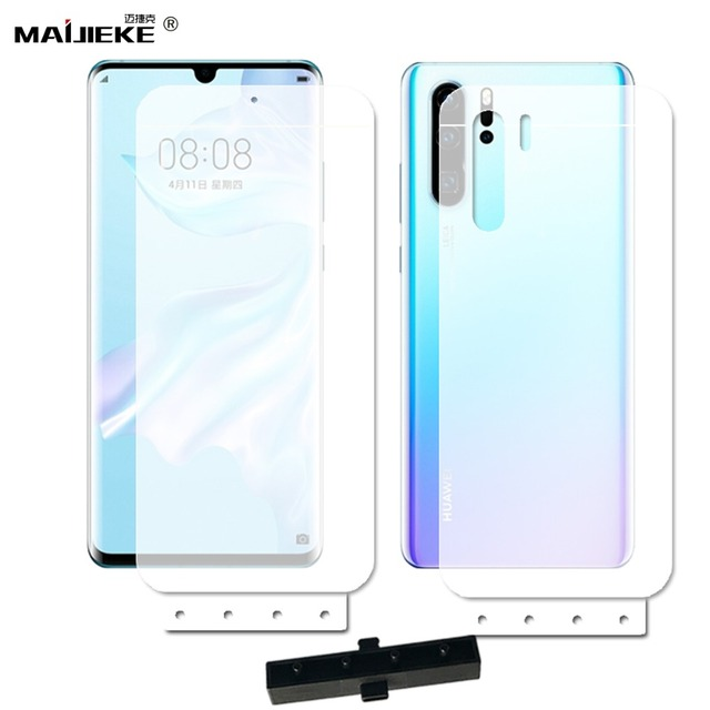 2PCS Front+Back Soft Hydrogel Film For Huawei P30 pro TPU Full Cover Screen protector for Huawei P30 lite Nano Film