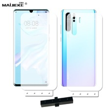 2PCS Front+Back Soft Hydrogel Film For Huawei P30 pro TPU Full Cover Screen prot