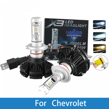 цена на H4 H7 LED Car Headlight Bulb For Chevrolet Cruze/Orlando/Captiva/Epica/Lacetti/Malibu/Blazer/Spark H11 H1 H3 12V LED Auto Lamp