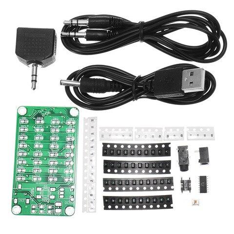 8*4 Level Indicator Kit SMD Soldering Practice Board Audio Spectrum Indicator Electronic Production Parts DIY Kit AMP board Pakistan