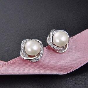 Ataullah настоящий речной натуральный жемчуг серьги серебро 925 Сережка-гвоздик ювелирная для женщин подарок Brincos Bijoux EW027