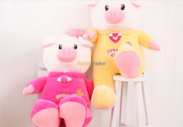 Fancytrader 35\'\' 90cm Jumbo Plush Super Lovely Stuffed Soft Pig, 2 Colors, Free Shipping FT50498 (11)