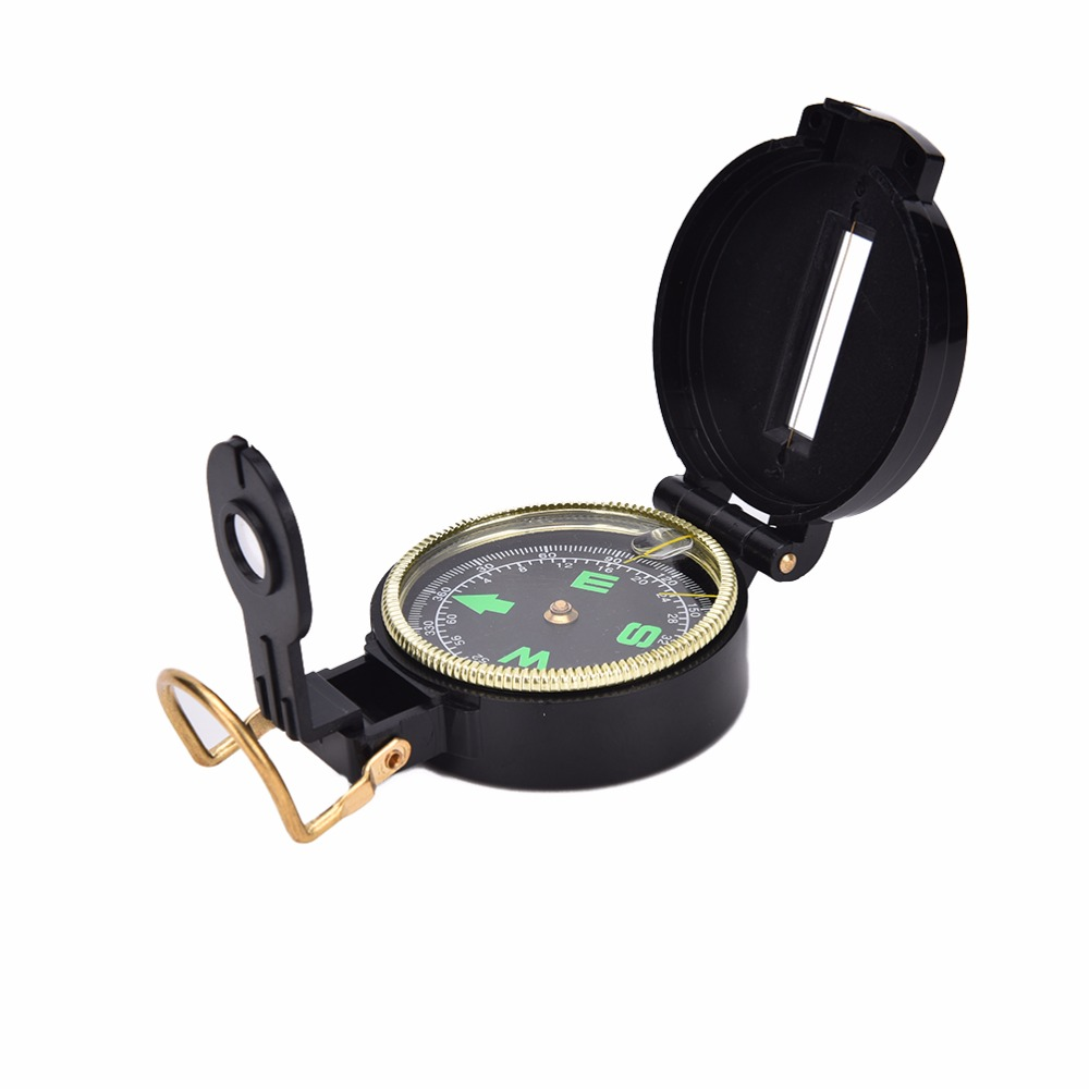 Outdoor Camping Hiking  Style Survival Marching Military Lensatic Compass PDYI