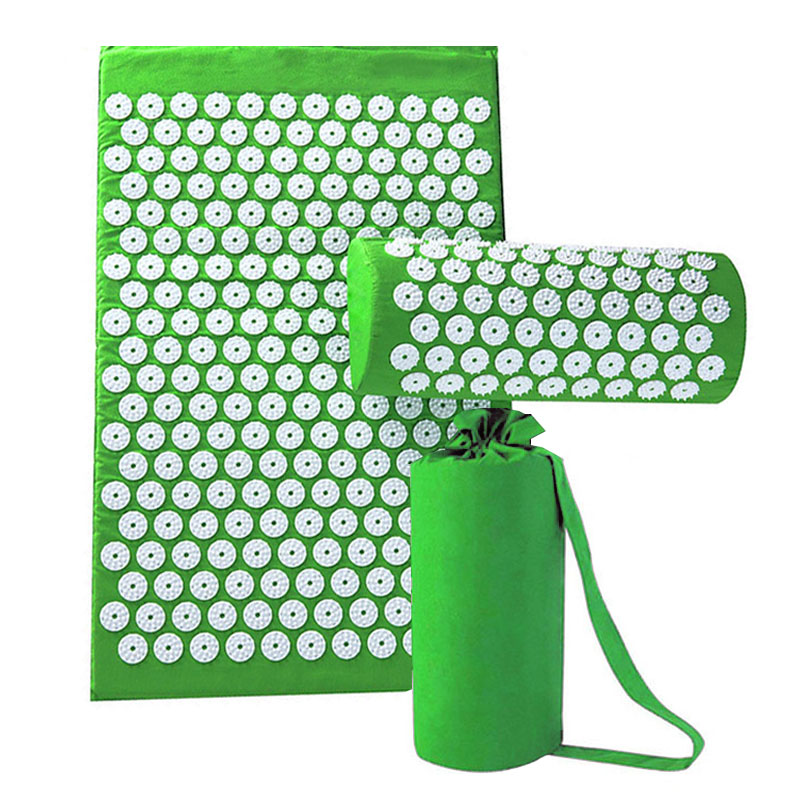 Massager Pillow Cushion Shakti Relieve Acupressure Mat Body Pain Acupuncture Spike Yoga Mat with Massage & Relaxation yoga mat acupressure massage mat with pillow body pain stress relief acupuncture spike yoga cushion health massager care