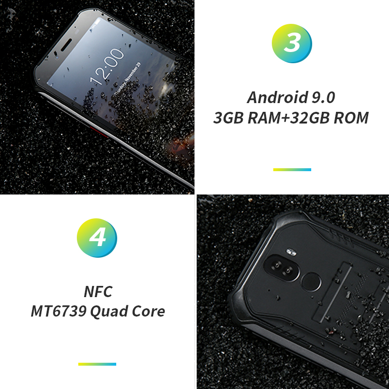 "Upgrade 3GB 32GB DOOGEE S40 5 5 HD 4G network Mobile Phone IP68 Waterproof 4650mAh 8MP Upgrade 3GB+32GB DOOGEE S40 5.5""HD 4G network  Mobile Phone IP68 Waterproof 4650mAh 8MP MT6739 Android 9.0 Pie Smartphone"