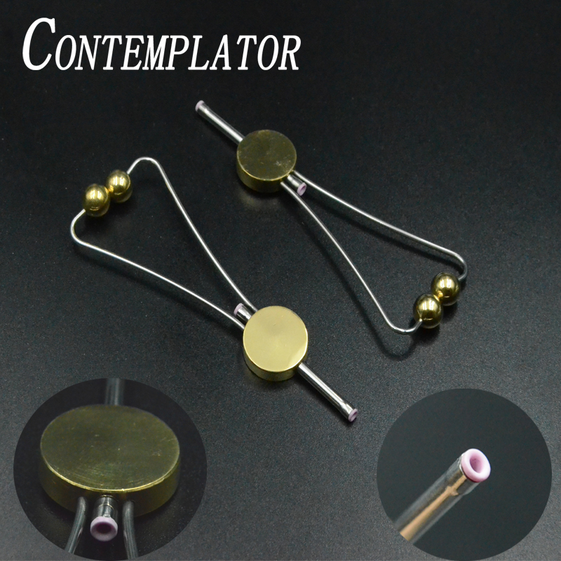 1pc Doctor Disc Bobbin Holder With Double Side Ceramic Fly Tying Tools Round Ball Feet Smooth For Threading Fly Fishing Widget