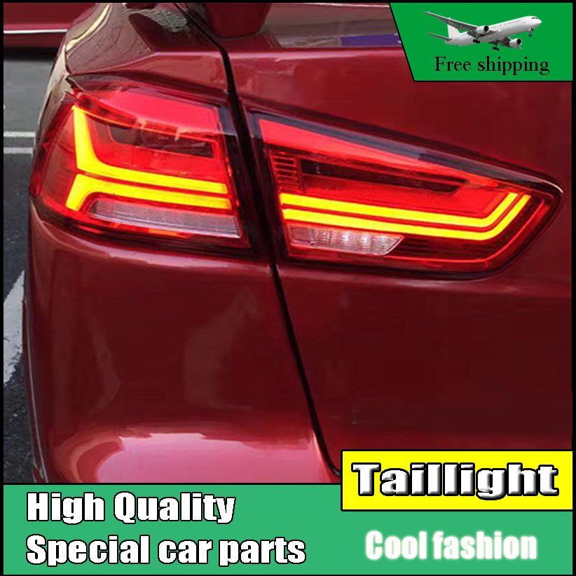Car styling For Mitsubishi Lancer Ex Taillight of Audi-A6 style Tail lamp With Led Moving Turn Signal light Rear light 2008-2016 car styling taillight accessories for audi a7 tail lights 2011 2017 led tail light rear lamp moving turn signal light