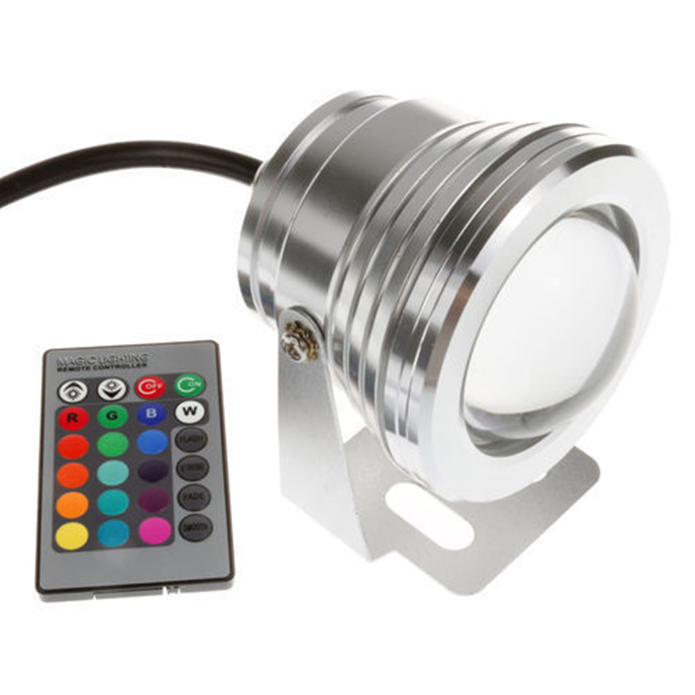 10W LED Outdoor Lamp RGB white warm white Underwater LED Spot Light Color Changing IP67 Flood Light for Garden light in Floodlights from Lights Lighting