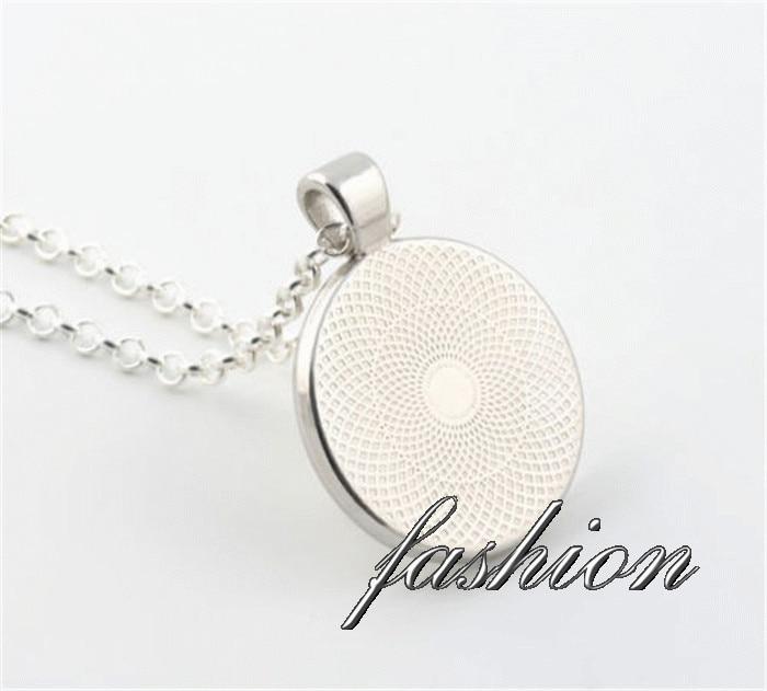Kingdom Hearts Emblem Symbol Necklace Jewelry Pendant Glass Round