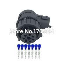 7 контактный водонепроницаемый разъем Черный Автомобильный с