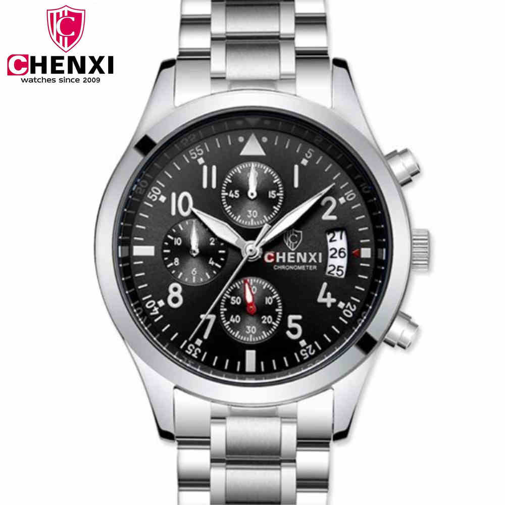 CHENXI Men Multifunction Watches Hot Sale Man Quartz Watch Brand Design Fashion Steel Bracelet Wristwatch Male Clock Chronograph design for men full steel watch quartz fashion hot sale relojes male watches fashions luxury round dial famous brand relogios