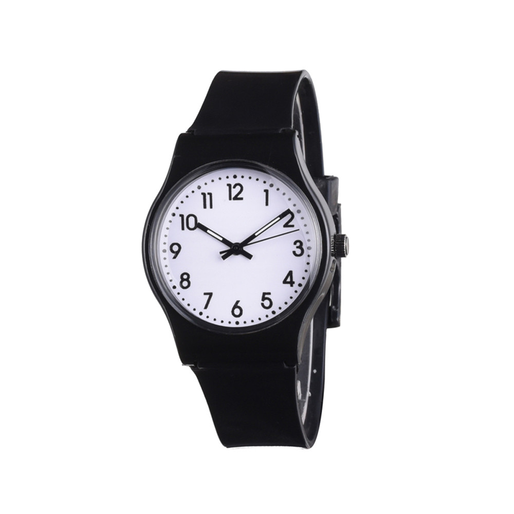 Watches Women Girl Casual Silicone Band Candy Color Watch