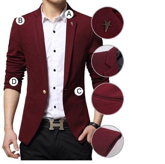 Mens Blazer New Arrivals 2017 Turn Down Collar Blazer Masculino Slim Fit Brand Casual Single Button Blazer Homme Men Suit Jacket
