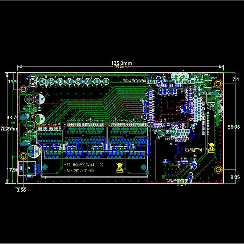 5 port Gigabit router module 10/100/1000M distribution box 5-port mini router modules OEM wired router module PCBA with RJ45 6