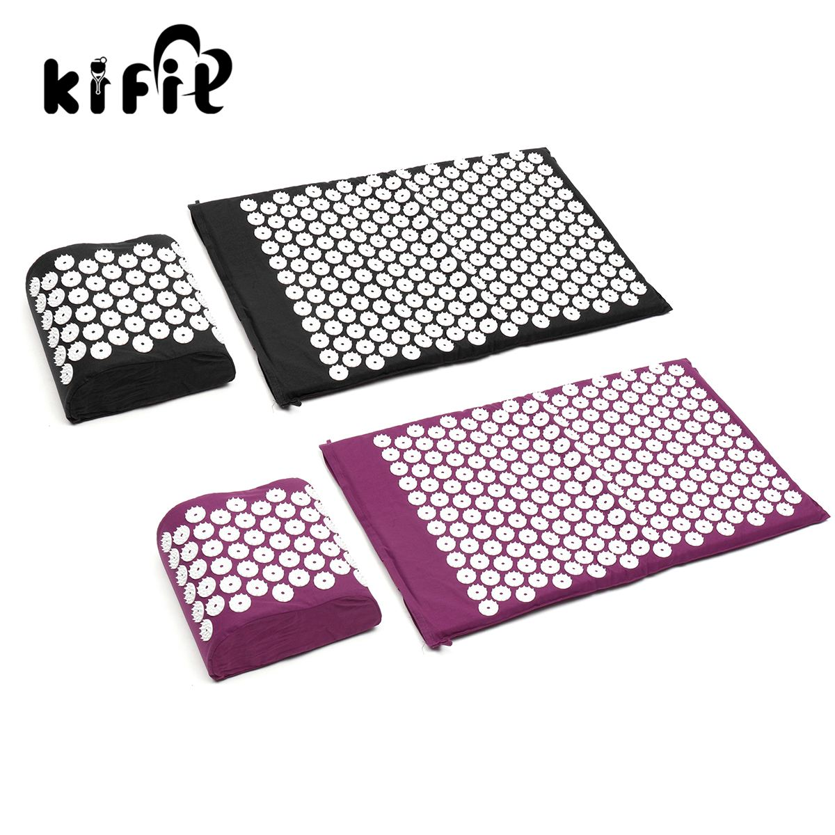 KIFIT Comfortable Acupressure Massage Pillow Mat Yoga Bed Pilates Nail Needle Pressure Neck Health Beauty Care Tool