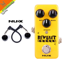 New NUX Mini Core Rivulet Digital Chorus Pedal Chorus Guitarra Effects Pedal with Upgraded Firmware True Bypass Free Shipping nux phaser core withe phase shifter modulation stomp single effect pedal tone lock preset function true bypass free shipping