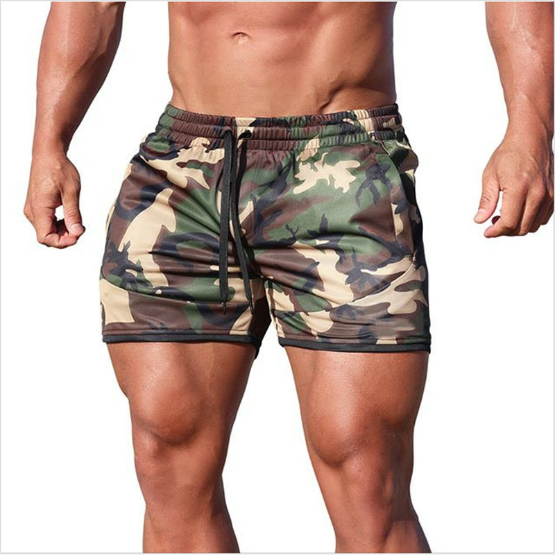 Summer Men Camouflage   Shorts   Male Slim   Short   Pant Gyms Fitness Bodybuilding Jogger Casual Fashion Brand Beach Workout Sweatpants