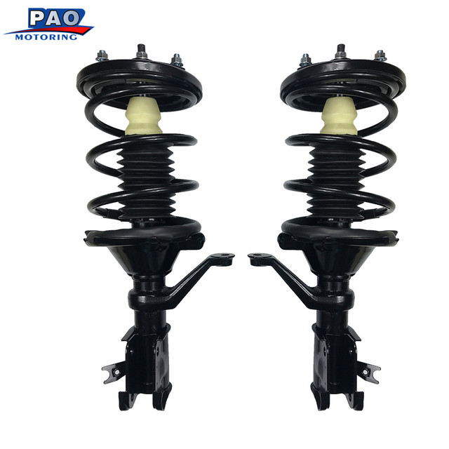 2PC New Front left&right Shock Absorber Complete Strut Coil Spring Coilover Assembly For Honda Civic 2001-2005 OEM 171433,171434