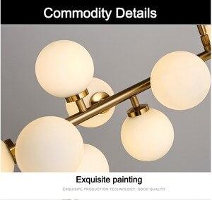 Image 5 - Plafonnier suspendu composé de bulles de verre, design moderne, produit de luxe, éclairage décoratif dintérieur, luminaire décoratif de plafond, idéal pour un salon ou un salon, LED