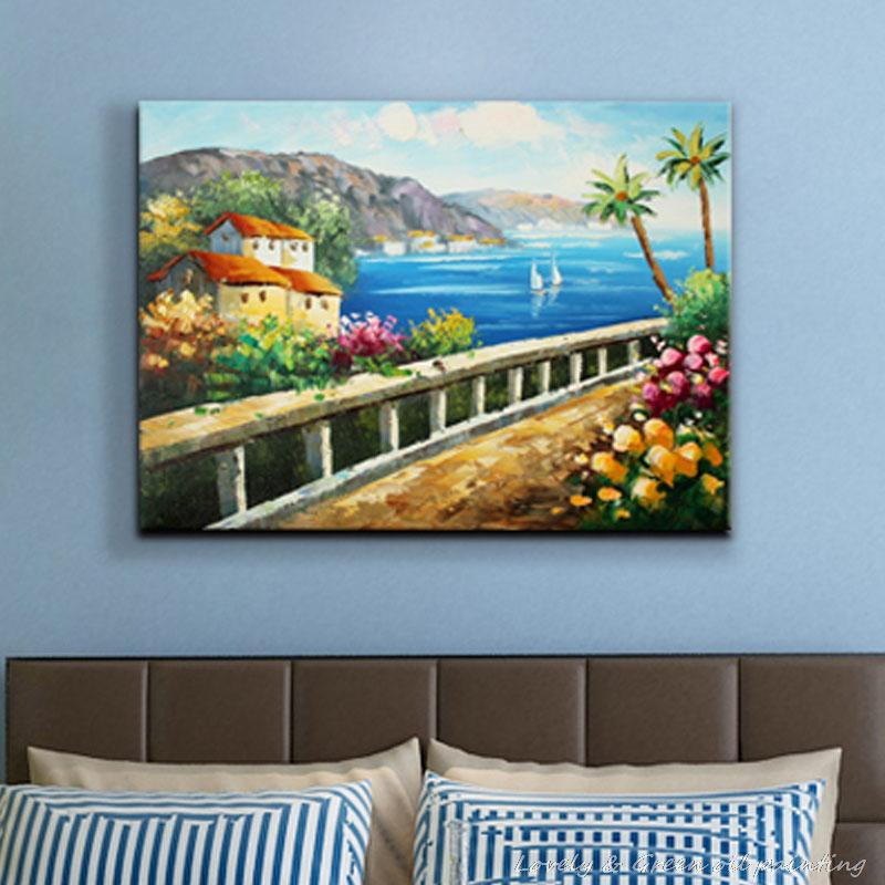 Hot Sell Product Handmade Canvas Oil Painting Landscape Fashion Rustic Living Room Home Decor Art