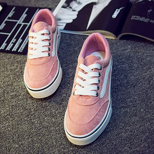 New Women Canvas Shoes Flats Casual  Female Low Pink Female Students Women's Shoes Female Classic Design Casual Autumn Shoes