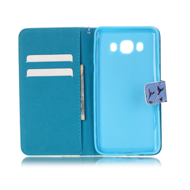 Fashion Print PU Leather Flip Cell Phone Case Cover For Samsung Galaxy J5