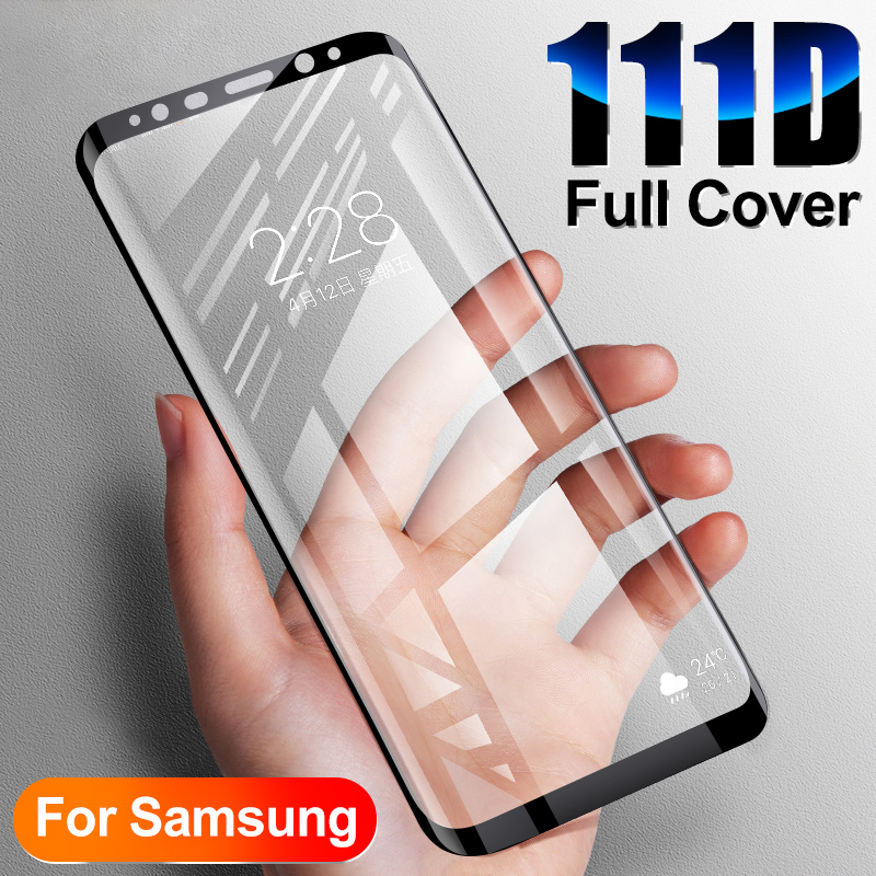 Glass-On Screen-Protector Tempered-Glass Edge-Plus 111D 9-Film Note 8 Samsung Galaxy