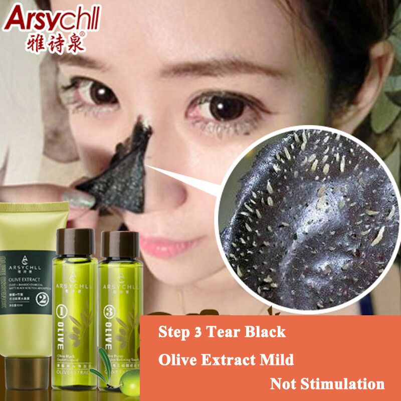 Beyoutiful Black Out Pore Treatment: Aliexpress.com : Buy 3pcs Blackhead Remover Olive Extract