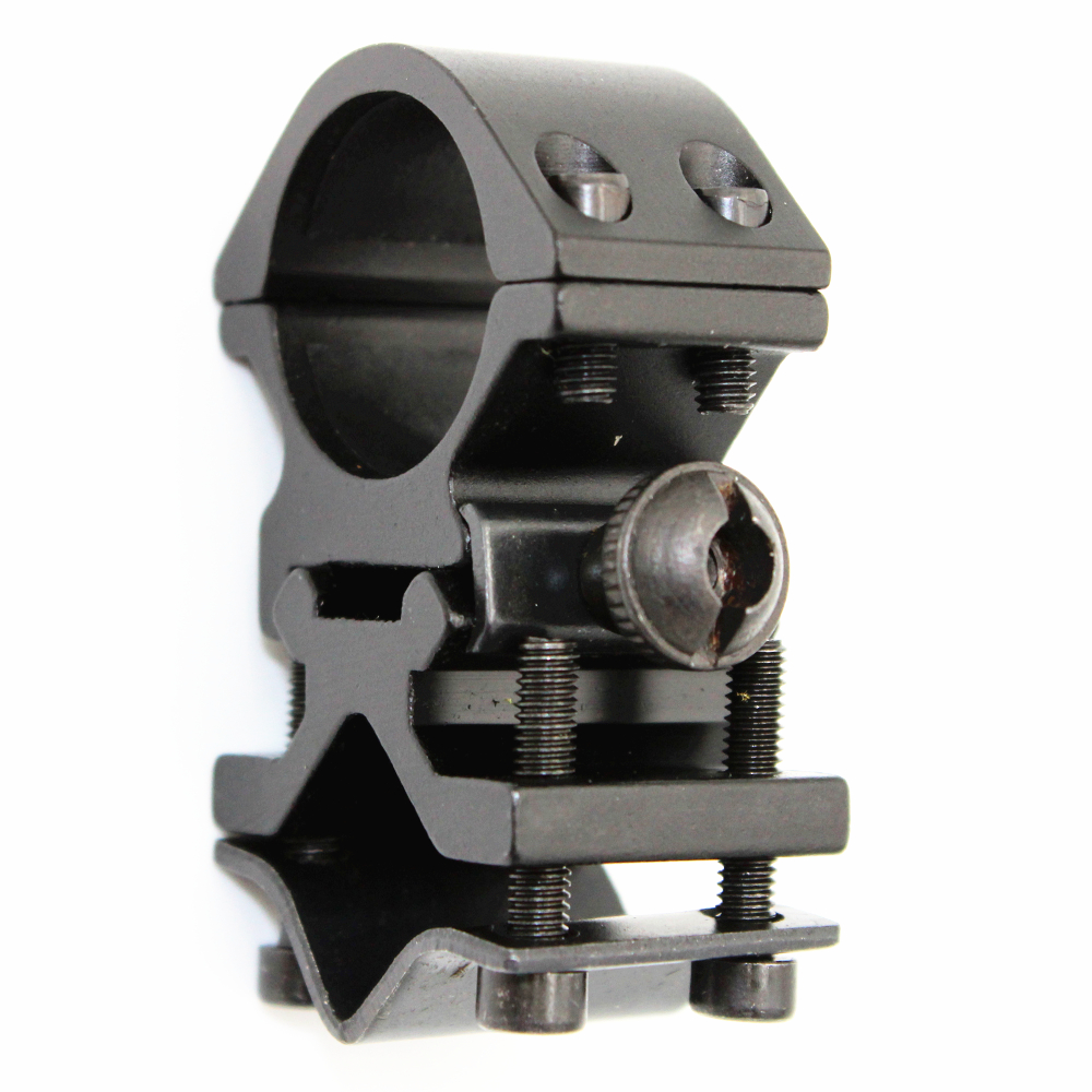 Universal Tactical Metal Rail Clip 25mm Ring 20mm Rail Gun Mount Flashlight Laser Torch Bracket for 501B C8 Hunting Flash Light