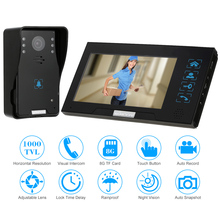 "KKmoon 7"" TFT LCD 1000TVL Door Monitor Video Intercom Home Door Phone Recorder System TF Card Supported Waterproof Rain Cover"