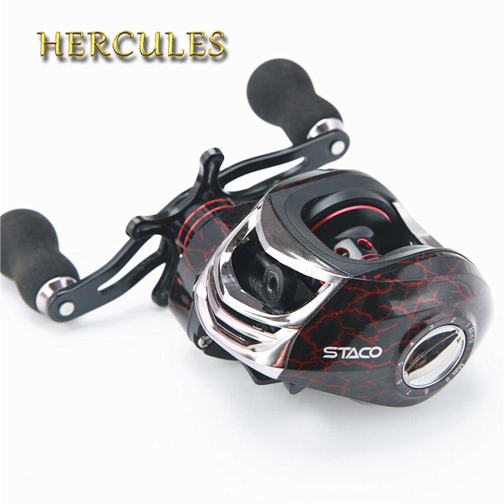 Hercules moulinet de pêche à la carpe moulinet de pêche à grande vitesse 13 + 1 roulements à billes rapport de vitesse de roue de goutte d'eau 6.3: 1 matériel de pêche Pesca
