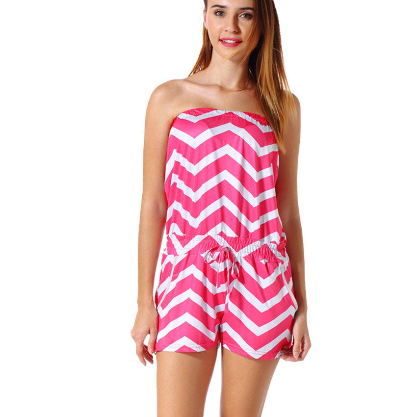 8654c24f975 Detail Feedback Questions about FLORATA Sleeveless Summer Style Beach Rompers  Women Jumpsuit Ladies Sexy Vertical Stripe Backless Cutaway Rompers Drop ...
