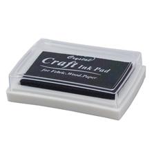 Чёрная чернильная Подушка Inkpad резиновый штамп отпечаток пальца ремесло нетоксичный ребенок безопасный