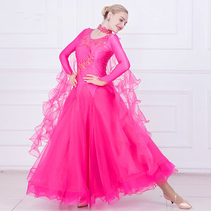 Image 3 - Women Ballroom Dance Dresses Standard Ballroom Dancing Clothes Competition Standard Dance Dress Waltz Foxtrot Dress